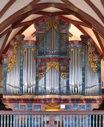 Bild der Schopfheimer Orgel; Quelle: Jens Steinhoff